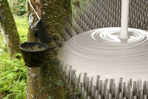 Latekso gamyboje naudojamos natūralios medžiagos.